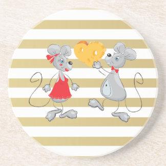 Niedliche schrullige wunderliche Mouses-Streifen Untersetzer