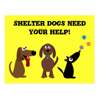 Niedliche Schutz-Hunde benötigen Ihre Postkarte