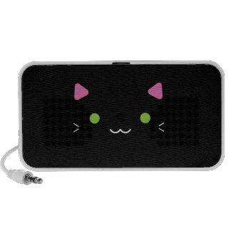 Niedliche schwarze Katze iPhone Lautsprecher