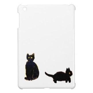 Niedliche schwarze Katzen-Kunst iPad Mini Hülle