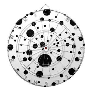 Niedliche schwarze u. weiße dalmatinische Stellen Dartscheiben
