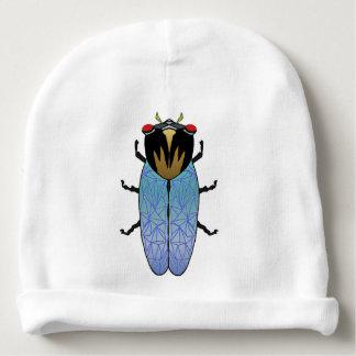 Niedliche schwarze Zikade Babymütze