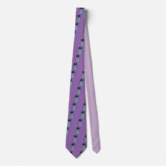 Niedliche schwarze Zikade Krawatte