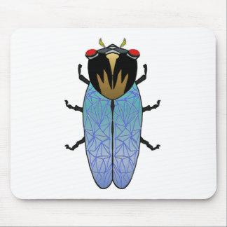 Niedliche schwarze Zikade Mousepad