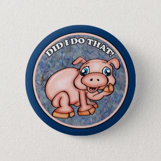 Niedliche Schwein-Knöpfe Runder Button 5,1 Cm