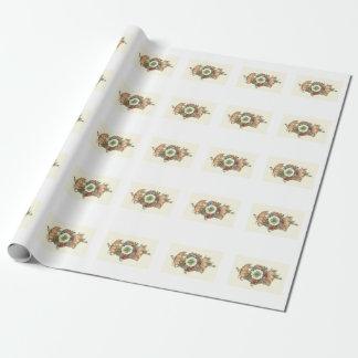Niedliche Schweine mit vierblättriges Kleeblatt Geschenkpapier
