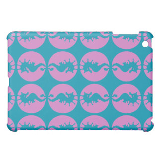 Niedliche Seepferde in rosa und in aquamarinem iPad Mini Hülle