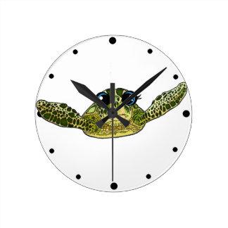 Niedliche Seeschildkröte Runde Wanduhr