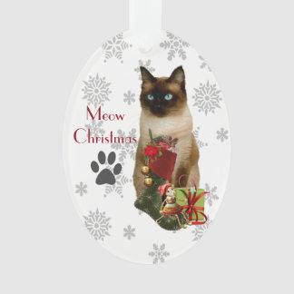 Niedliche siamesische Katzen-Weihnachtsverzierung Ornament