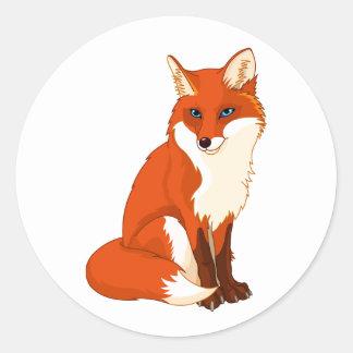 Niedliche sitzende Aufkleber Fox