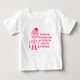 Niedliche Skelett-Zitate Baby T-shirt