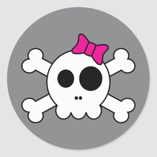 Niedliche Skully Aufkleber