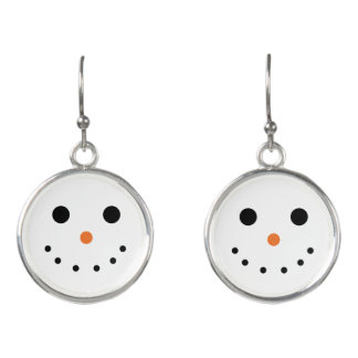 Niedliche Snowman-Tropfen-Ohrringe Ohrringe