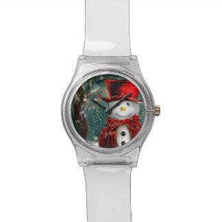 Niedliche snowmans - Snowmanillustration Armbanduhr