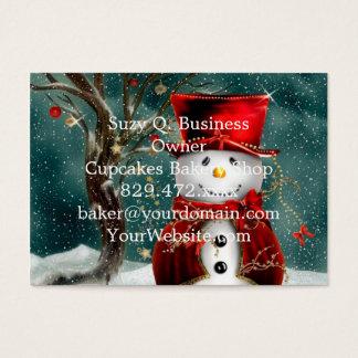 Niedliche snowmans - Snowmanillustration Visitenkarte