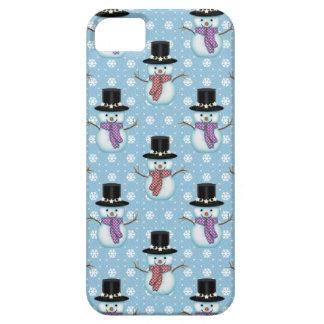 Niedliche Snowmen auf hellblauem Muster Etui Fürs iPhone 5