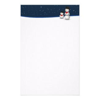 Niedliche Snowmen-Konstellation - Briefpapier