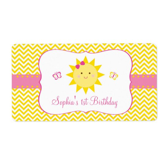Niedliche Sonnenschein-Geburtstags-Bevorzugung