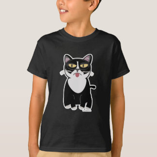 Niedliche Sourpuss Cartoon-Katze T-Shirt