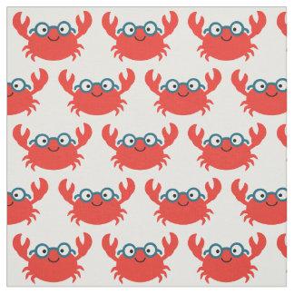 Niedliche Specky Krabben-Illustration Stoff