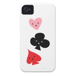 Niedliche Spielkarte-Anzüge iPhone 4 Cover