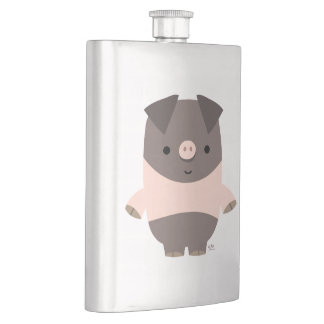 Niedliche starke Cartoon-Schwein-Klassiker-Flasche Flachmann