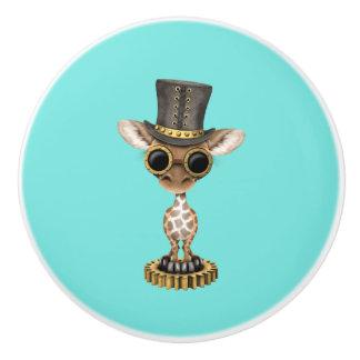 Niedliche Steampunk Baby-Giraffe Keramikknauf