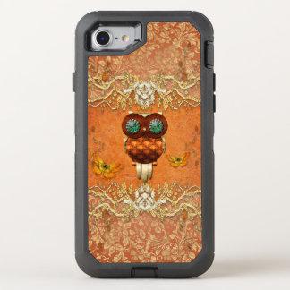 Niedliche steampunk Eule OtterBox Defender iPhone 8/7 Hülle