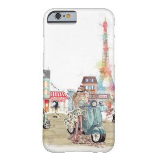 Niedliche Straßen von Paris-Collage Barely There iPhone 6 Hülle