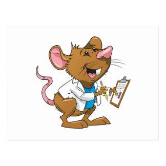 Niedliche Studenten-Ratte Postkarte