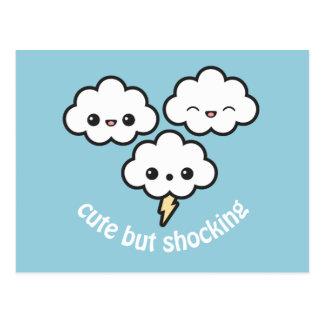 Niedliche Sturm-Wolken Postkarte