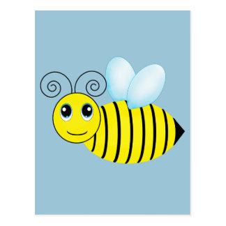 Niedliche summende Honig-Biene Postkarte