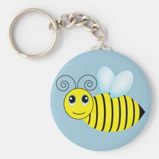 Niedliche summende Honig-Biene Standard Runder Schlüsselanhänger