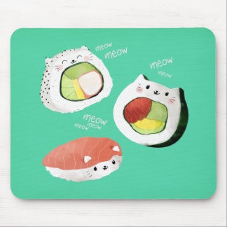 Niedliche Sushi-Katze Mousepad