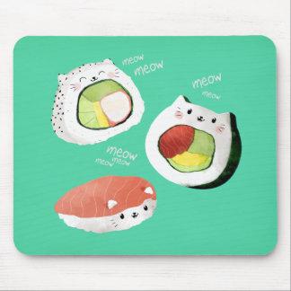 Niedliche Sushi-Katze Mousepads