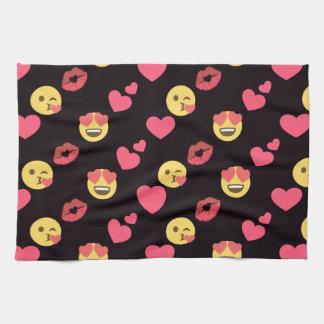 niedliche süße emoji Liebeherzen küssen Küchentuch