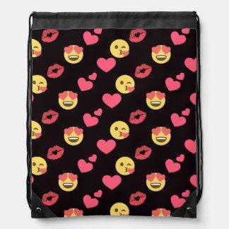 niedliche süße emoji Liebeherzen küssen Sportbeutel