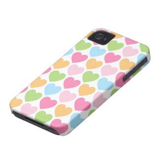 Niedliche Süßigkeitsherzen girly BlackBerrykasten Case-Mate iPhone 4 Hülle