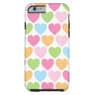 Niedliche Süßigkeitsherzen girly iPhone 6 Fall für Tough iPhone 6 Hülle