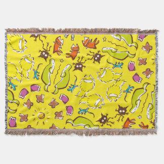 Niedliche Symmetrie Hundekatzenspatz Gelbs Decke