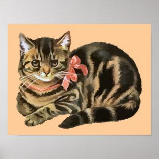 Niedliche Tabby-Kaliko-Katze Kätzchen-Plakat