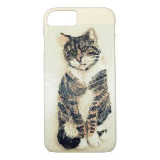 Niedliche Tabby-Katzen-Malerei iPhone 8/7 Hülle