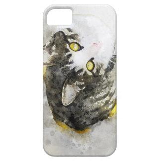 Niedliche Tabby-Katzewatercolor-Kunst iPhone 5 Hülle