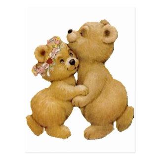 Niedliche Tanzenteddy-Bären Postkarte
