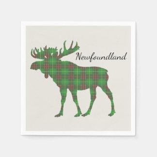 Niedliche Tartanelche Neufundland-Papierservietten Papierserviette