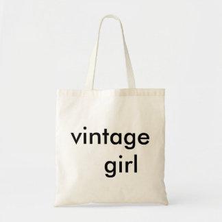 niedliche Tasche des Vintagen Mädchens für den