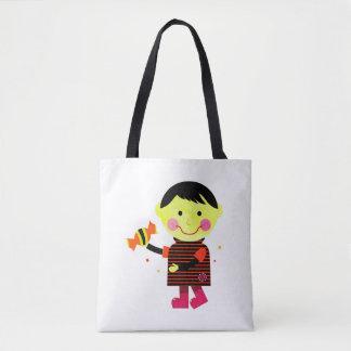 Niedliche Taschentasche mit Hand-gezeichnetem Tasche