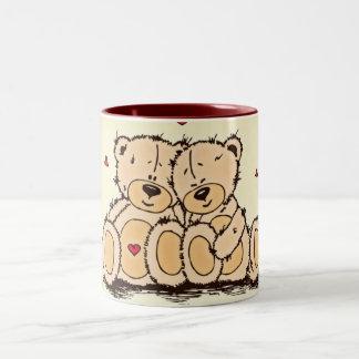 Niedliche Teddy-Bären Zweifarbige Tasse