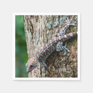 Niedliche Tokay Gecko-Eidechse Papierserviette