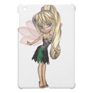 Niedliche Toon-Fee im grünen und lila Blumen-Kleid iPad Mini Hülle